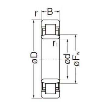 Cylindrical Roller Bearings Distributior NU210EG NACHI