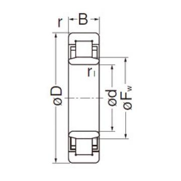 Cylindrical Roller Bearings Distributior NU2206EG NACHI