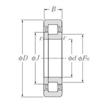 Cylindrical Roller Bearings Distributior NUP210 NTN