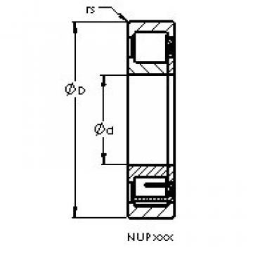 Cylindrical Roller Bearings Distributior NUP2208 E AST