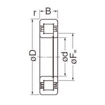 Cylindrical Roller Bearings Distributior NUP206EG NACHI