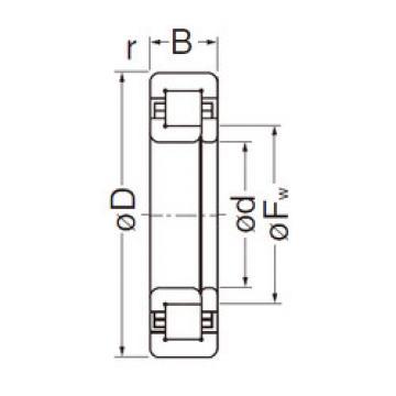 Cylindrical Roller Bearings Distributior NUP2208EG NACHI