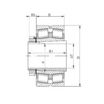 Spherical Roller Bearings 23180 KCW33+H3180 ISO