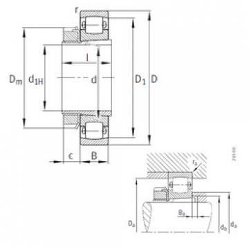 Spherical Roller Bearings 20206-K-TVP-C3+H206 FAG