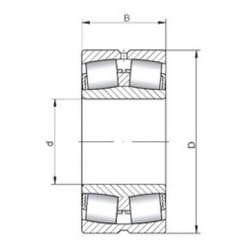 Spherical Roller Bearings 23168W33 ISO