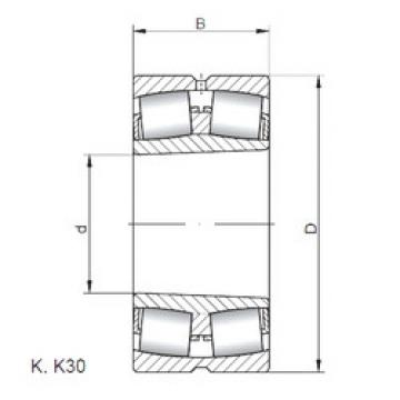 Spherical Roller Bearings 23160 KW33 ISO