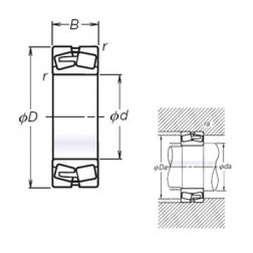 Spherical Roller Bearings 22217L12CAM NSK