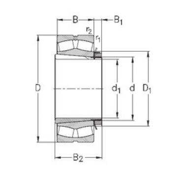 Spherical Roller Bearings 23180-K-MB-W33+OH3180-H NKE