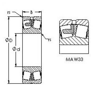 Spherical Roller Bearings 23328MAC4F80W33 AST