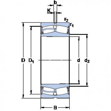 Spherical Roller Bearings 23136-2CS5K/VT143 SKF