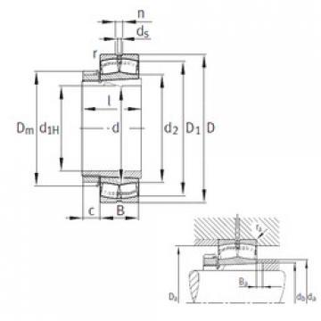 Spherical Roller Bearings 22338-K-MB+H2338 FAG