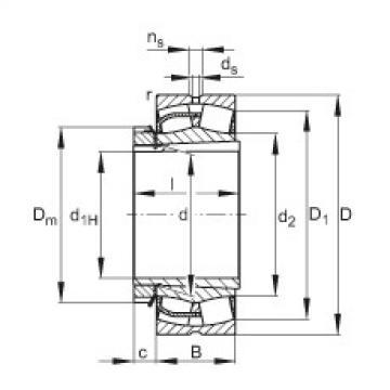 Spherical Roller Bearings 23060-E1-K + H3060 FAG