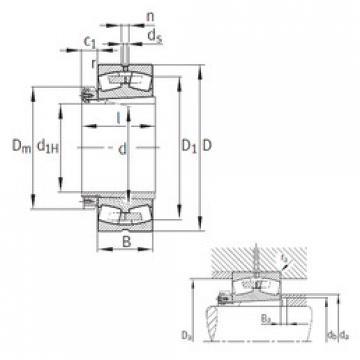 Spherical Roller Bearings 23080-K-MB+H3080 FAG