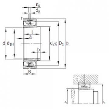 Spherical Roller Bearings 23180-B-K-MB+AH3180G FAG