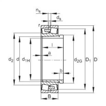 Spherical Roller Bearings 23076-E1A-K-MB1 + AH3076G-H FAG
