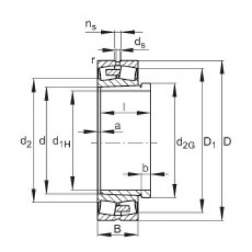 Spherical Roller Bearings 23264-E1A-K-MB1 + AH3264G-H FAG