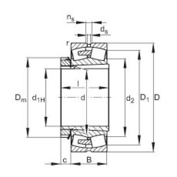 Spherical Roller Bearings 23076-E1A-K-MB1 + H3076-HG FAG