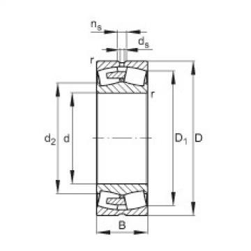 Spherical Roller Bearings 23076-E1A-MB1 FAG