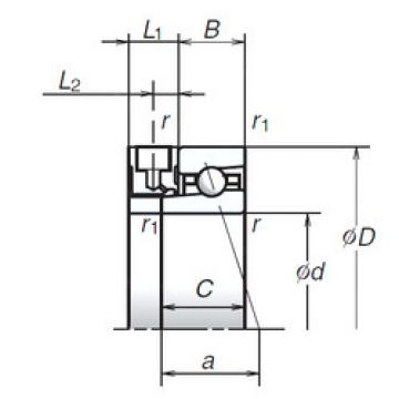 angular contact thrust bearings 70BNR19XE NSK