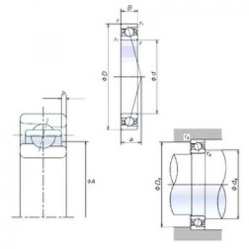 angular contact thrust bearings 110BER10S NSK