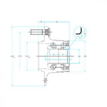 angular contact thrust bearings 33BWK02S NSK