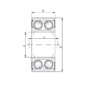angular contact thrust bearings 3001 ZZ ISO