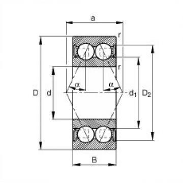 angular contact thrust bearings 3214-B-2RSR-TVH FAG
