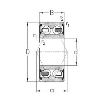 angular contact thrust bearings 3204-B-2RSR-TV NKE
