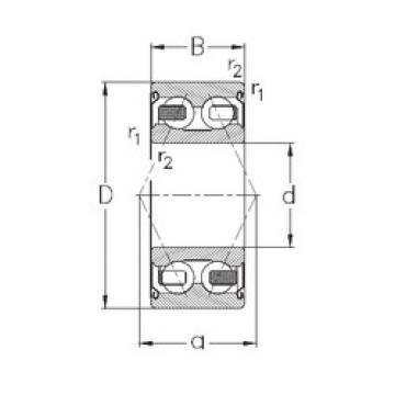 angular contact thrust bearings 3311-B-2Z-TV NKE