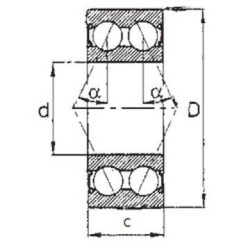angular contact thrust bearings 5209-2RS FBJ