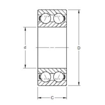 angular contact thrust bearings 5204K Timken