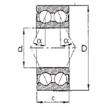 angular contact thrust bearings 5305ZZ FBJ