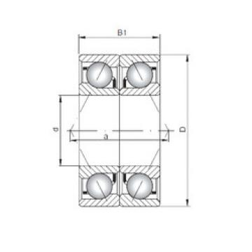 angular contact thrust bearings 7040 CDB ISO
