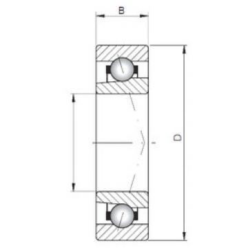 angular contact thrust bearings 71817 A ISO
