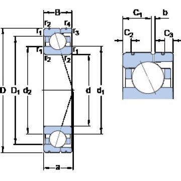 angular contact thrust bearings 7010 ACD/HCP4AL SKF