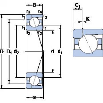 angular contact thrust bearings 7040 ACD/HCP4AH1 SKF