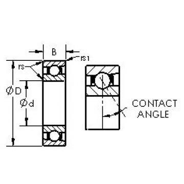 angular contact thrust bearings 71817C AST