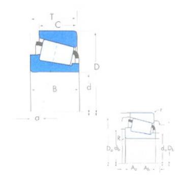 tapered roller dimensions bearings 48506/48750 Timken