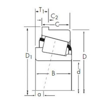 tapered roller dimensions bearings 476/472-B Timken