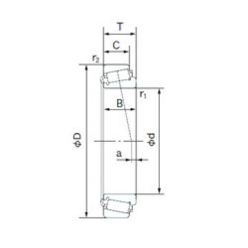 tapered roller dimensions bearings 395/394A NACHI