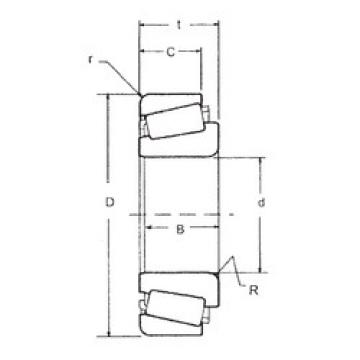 tapered roller dimensions bearings 539A/532X FBJ