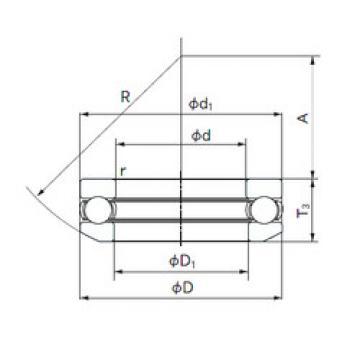 thrust ball bearing applications 53228 NACHI
