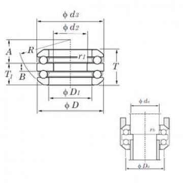 thrust ball bearing applications 54316 KOYO