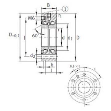 thrust ball bearing applications ZKLF50115-2Z INA