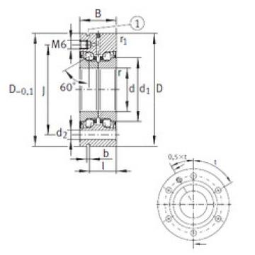thrust ball bearing applications ZKLF50115-2RS-PE INA
