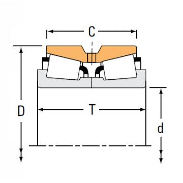 TNA Series Tapered Roller Bearings double-row NA659 654D