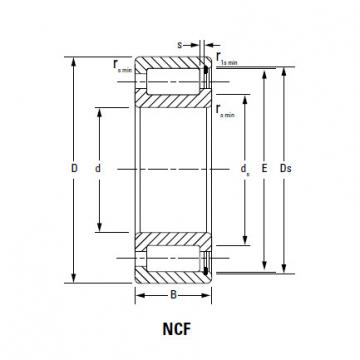 CYLINDRICAL ROLLER BEARINGS FULL COMPLEMENT NCF NCF18/800V