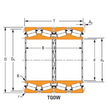 four-row tapered roller Bearings lm778549dgw –