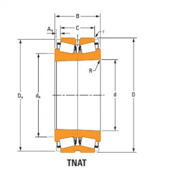 TdiT TnaT two-row tapered roller Bearings Hm256839Ta-Hm256849Ta Hm256810dc