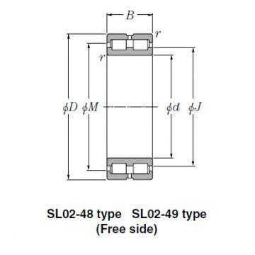 SL Type Cylindrical Roller Bearings NTN SL01-4852